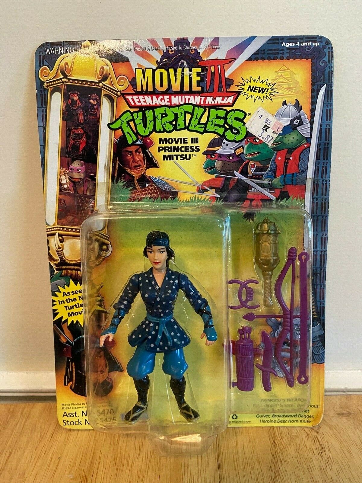 1992 Playmates Toys Teenage Mutant Ninja Turtles Movie 3 Princess