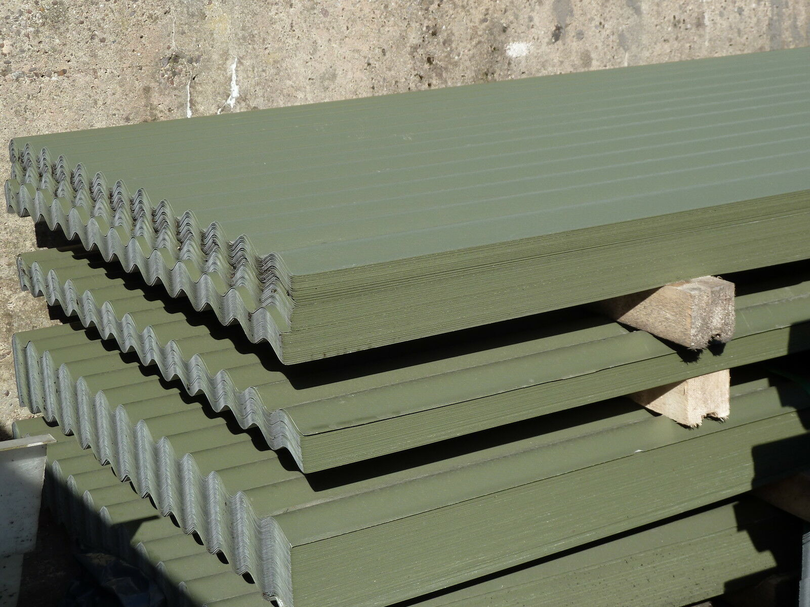 Corrugated Roof Sheets Olive Green Pvc Coated Metal Steel