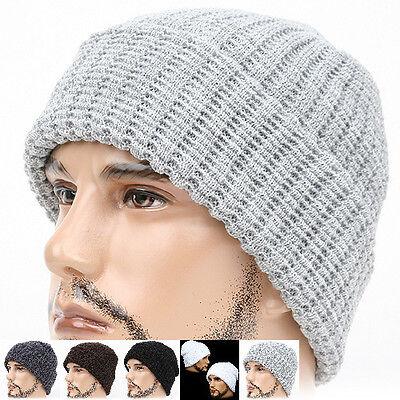 Beanie POPCORN light GRAY Skull Wrap Knit Cap Fashion Hat Warmer