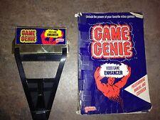 GAME GENIE AND CODE BOOK A Bit Wrinkled CHEAT NINTENDO ORIGINAL NES HQ