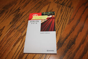 Image Is Loading 2016 Toyota Avalon Owners Manual Toy647