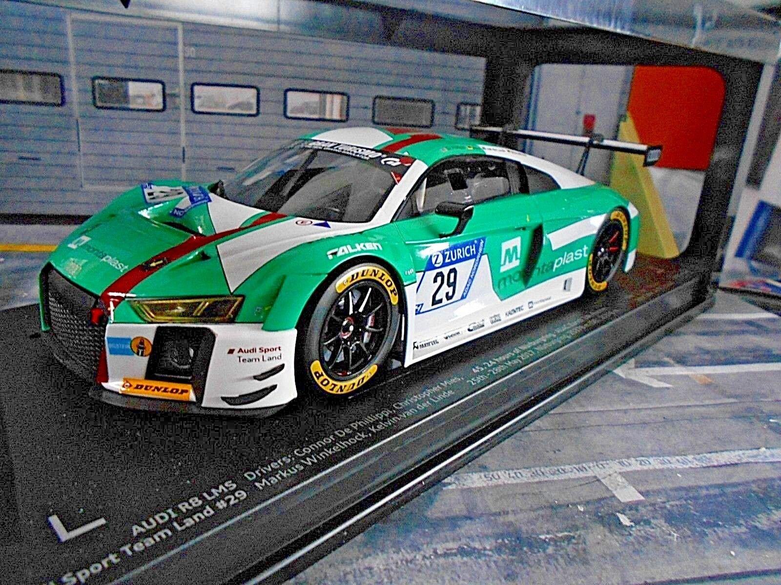 Audi r8 LMS gt3 24 nurburgring 2017 montaplast país Mies winner Paragon 1 18