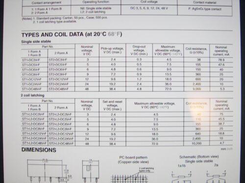 SDS Relais Gold 24V 2xEIN 250V 380V 8A NAIS ST2-DC24V  #20R35/%