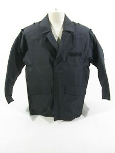 Ex Police Black Waterproof Jacket With Centre Zipped Fastening Workplace