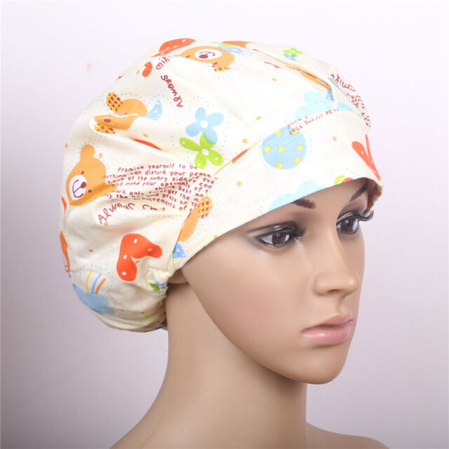 New Women's Colorful Printed Scrub Surgery Cap Doctor/Nurse Medical Surgical Hat