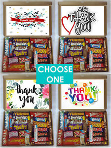 Details About Thank You Celebration Luxury Chocolate Bars Treat Gift Box Present Hamper