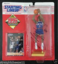 John Starks Signed Auto Autograph 1995 NBA NY Knicks SLU Starting Lineup Figure