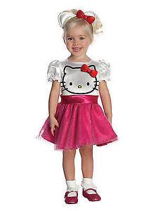 Stock photo  sc 1 st  eBay & Hello Kitty Halloween Costume Toddler 2t - 4t Dress Headband Child ...