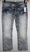 Awesome ((((silver Jeans Aiko Capris)))) Indigo Printed Size W 28