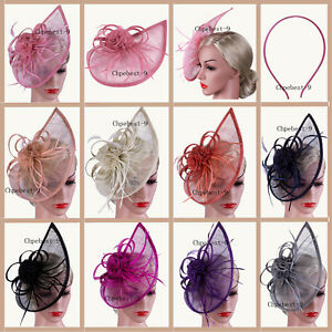 f8b509ca19c Image is loading Wedding-Evening-Hair-Accessories-Clip-Hats-Fascinator -Headbands-