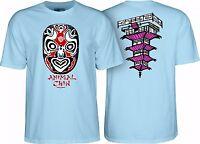 Powell Peralta Chin Mask Skateboard Shirt Light Blue Xxl