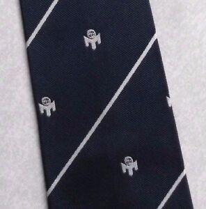 Consciencieux Vintage Cravate Homme Cravate Company Logo Crested Club Association Société Navy-afficher Le Titre D'origine Une Offre Abondante Et Une Livraison Rapide