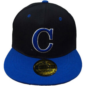 420967637df Image is loading C-Embroidered-Snapback-Flat-Brim-Adjustable-Baseball-Caps-