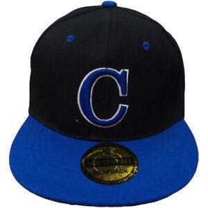 4227c9d7ae83c Image is loading C-Embroidered-Snapback-Flat-Brim-Adjustable-Baseball-Caps-