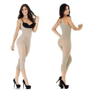 82baa415a1 Faja Colombiana de Mujer Body Shaper Black   Beige Slimming Capri ...