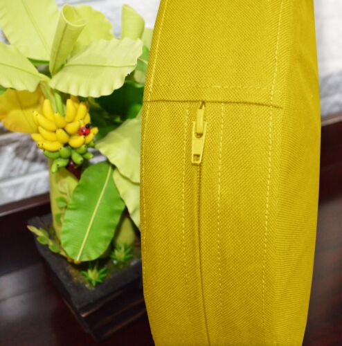 PL01r Yellow Water Proof Outdoor Box Round Shape Cushion Cover Sofa Seat Case