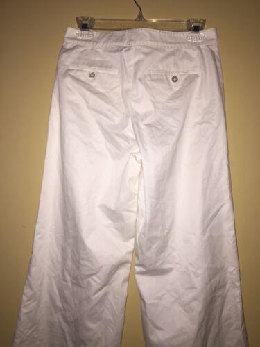 4 Lauren Label Leg Hvid Pants Wide Black Cuff Cotton Ralph z7w4qz