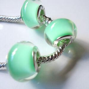 New-5pcs-Silver-DIY-Czech-big-hole-Beads-Fit-European-Charm-Bracelet