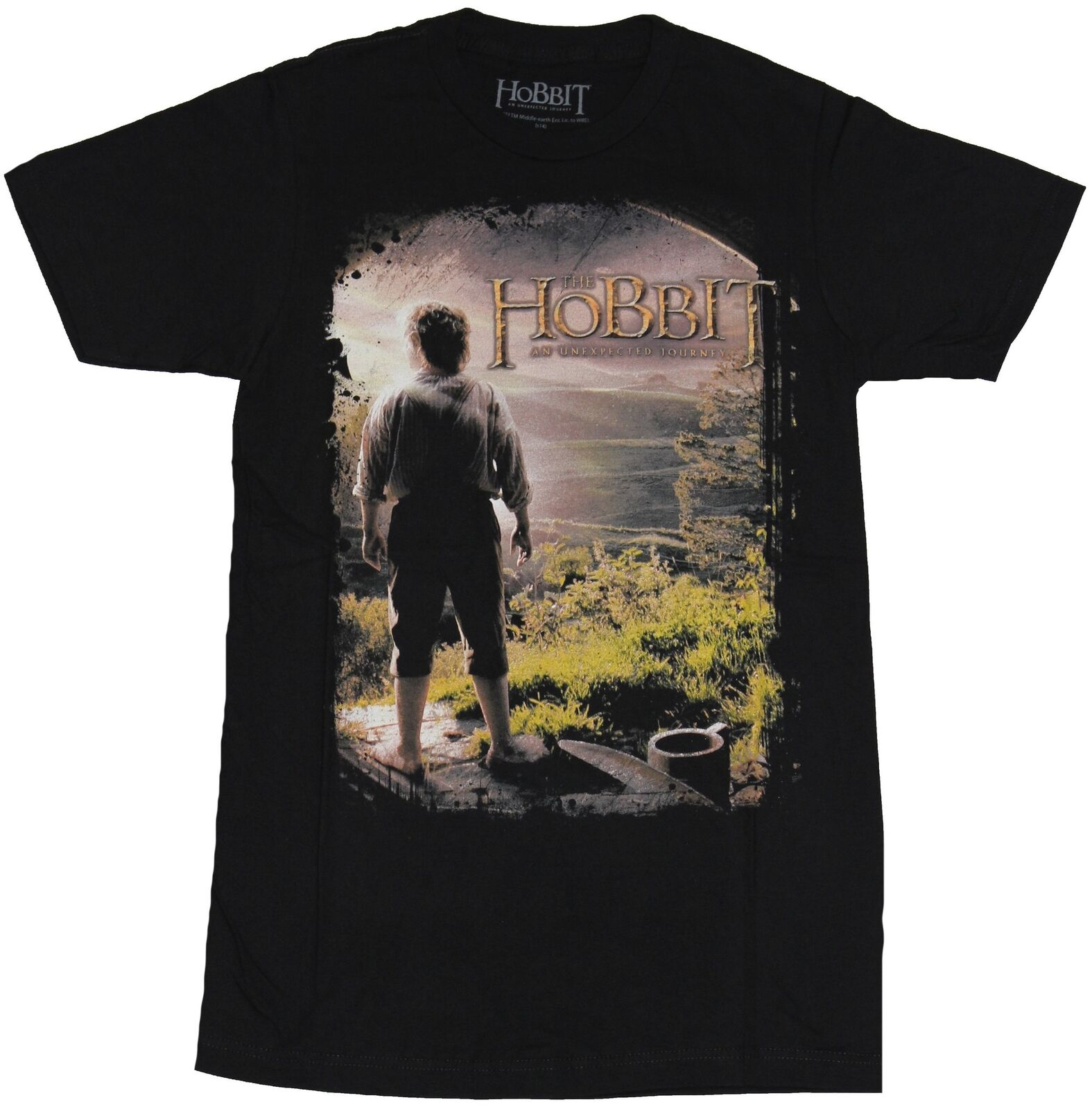 2e1d5eb0a The Hobbit Mens T-Shirt - Unexpected Journey Color Poster Image Men Women  Unisex Fashion tshirt Free Shipping WHITE