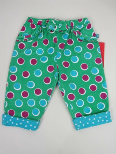 Plum Newborn Baby Girls Spotted Roll Cuff Pants size 0 Colour Green Print
