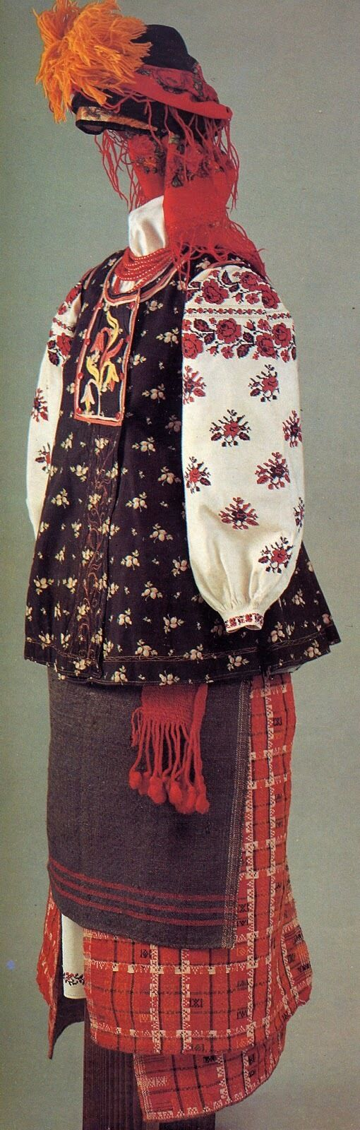NM Antique  Ukrainian or Romanian  Folk Hand Embr… - image 7