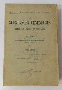 RARE-LES-SUBSTANCES-VENENEUSES-ETUDE-DE-LEGISLATION-COMPAREE-H-PRUVOST