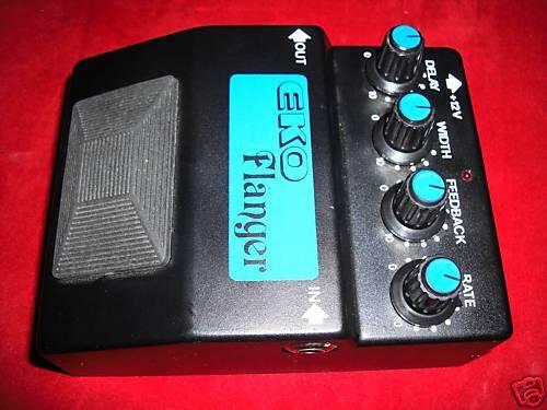 Vintage eko analog flanger pedal nos never played