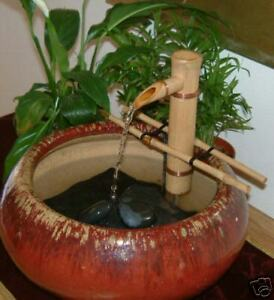 Image Is Loading BAMBOO Feng Shui Water Fountain Outdoor Japanese Garden