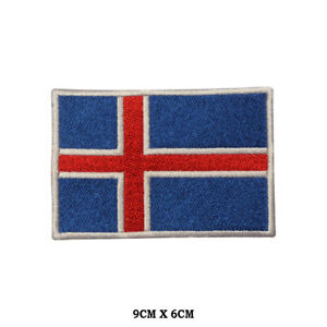 Iceland-National-Flag-Embroidered-Patch-Iron-on-Sew-On-Badge-For-Clothe-etc