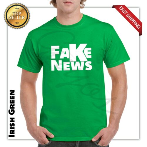 Fake News Network Funny Trump T Shirt President Trump Tee S-3XL