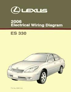 2006 Lexus ES 330 Wiring Diagrams Schematics Layout Factory OEM   eBayeBay