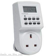 7 Day Digital LCD Electronic Plug-in Programmable 12/24 Hour Timer Switch -ES113