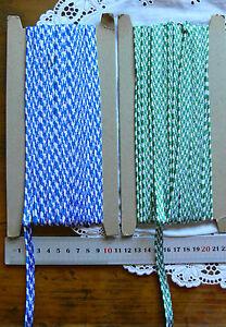 PIPING-2mm-CORD-BRAID-Total-9mmWidth-3-Metre-Lengths-GREEN-amp-BLUE-Choice-FtLwn