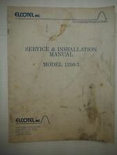 Elcotel Inc Model 1200-3 Pay Telephone Service & Installation Manual .VG 1219SM
