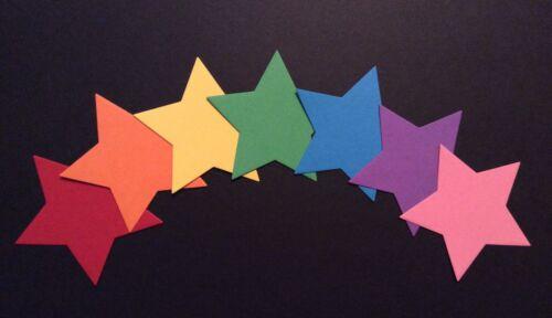 70 x 8.80cm Brightly Coloured Diecut Stars Card Making//Scrapbooking