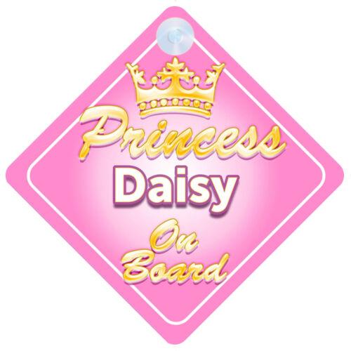 La Princesse Daisy à bord personnalisé bébé fille VOITURE SIGNE