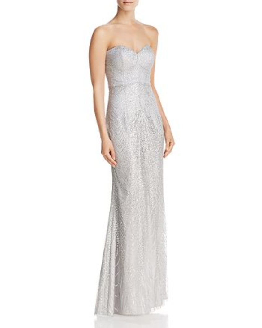 Bariano Bariano Bariano Strapless Sequin Lace Gown MSRP  299 Size M A 408 Blm 7d5ad8