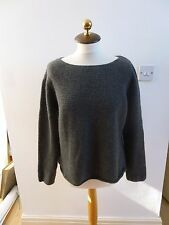 Charter Club  pure cashmere chunky reworked boxy jumper size M/L