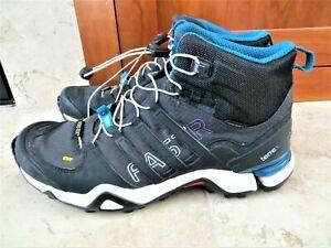 romántico pase a ver Serrado  Adidas Terrex Fast GTX 375 Black Gore-Tex Mid Black Boots Shoes 8.5 PRICE  DROP! | eBay