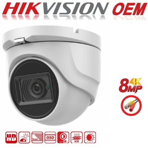 HD-TVI//CVI//AHD//CVBS 30m Smart IR 2.8mm 8MP 4K Matrix IR Turret 4-in-1 Camera