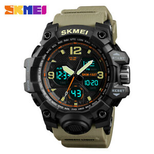 Women-Military-Sport-Digital-Analog-Watch-Alarm-LED-Waterproof-Dual-Display-Date