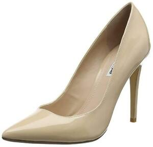 Nude 7 £80 Shoes Shiny Size High Rrp Court Patent Uk Bnwb Aiyana Dune Heel ISq7fwY