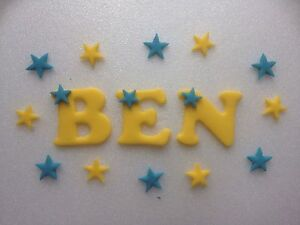 Cake Toppers Letters Uk : Edible fondant icing letters - cake topper + 12 stars