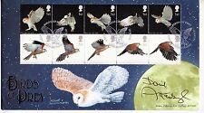 "David Attenborough ""Birds Of Prey"" 2003 Signed GB Benham FDC"