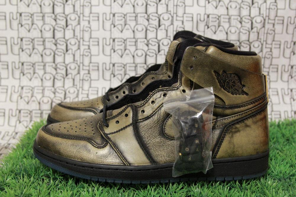 Nike jordan 1 ali d'oro / nero / marrone allevati royal sbb bhm ovo aa2887 035 uomini