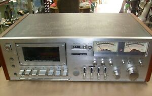 Rare-Aiwa-AD-6800-Solid-State-Stereo-Cassette-Deck-needs-Belts