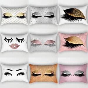 Eyelash-Pillow-Case-Cotton-Linen-Sofa-Throw-Cushion-Cover-Home-Decor