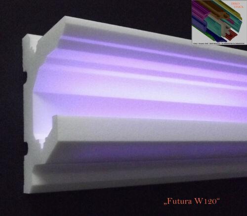 "Stuckleisten Stuckprofil LED Profil 8 Meter Zierprofil /""Futura W120/"""