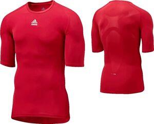 Adidas-Techfit-kurzarm-rot-Laufshirt-Training-Fitness-T-Shirt-Gr-XS-2XL-3XL