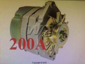 CHROME ALTERNATOR Fits HIGH OUTPUT CRUSADER PLEASURECRAFT MARINE ENGINE 200A